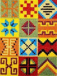 Resultado de imagen para alfombras bordadas en punto cruz