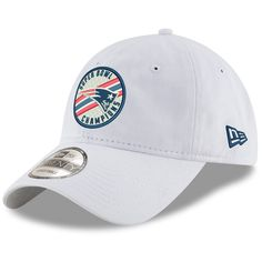 premium selection 344ec 8da50 Men s New England Patriots New Era White Super Bowl LIII Champions Circle  Stripe 9TWENTY Adjustable Hat, Your Price   22.99