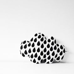 Black and White Raindrop Cloud Pillow from Mabel and Bird on Etsy - so darling in a nursery!