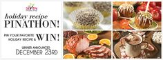 Pin your favorite holiday recipe for a chance to be one of 3 lucky winners to receive $100!
