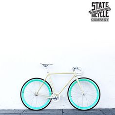 State Bicycles: I am looking at a few different color schemes from this company Fixi Bike, Fixed Gear Bike, Simple Pleasures, Bike Life, Cycling, Aqua, Biking, Bicycles, Color Schemes