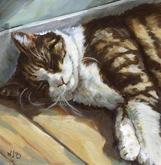 """Daily Paintworks - """"Anakin on the floor"""" - Original Fine Art for Sale - © Nicole Barrière-Jahan"""