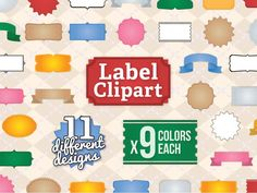 99 clip art labels for commercial use