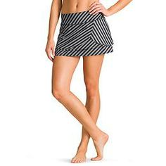 Stripe Fly By Skort - CoolTouch™ fabric gives you a performance advantage when the court heats up in this multi-layered sport skort with a mesh inner short.