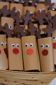 Reindeer candy bar treats (fun for my students and clinic kiddos).
