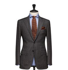 Tailored 2-Piece Suit – Fabric 4547 Glencheck Grey Cloth weight: 260g Composition: 100% Wool Super 130's