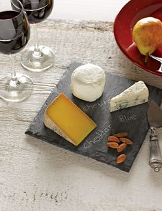 """Slate Cheese Board, 8"""" Square, Quarried in Vermont 