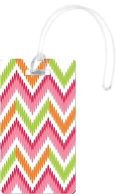 Rikki Knight Orange Pink Connected Circle ZigZag Flexi Luggage Tags White * Find out more about the great product at the image link. Note:It is Affiliate Link to Amazon.