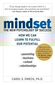 This book describes the growth mindset vs the fixed mindset.  People who have the growth mindset have more persistence and are likely to pursue their goals even in the face of adversity.  We could also label these mindset as effort vs ablity.