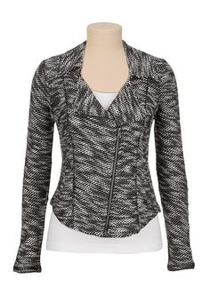 marled knit jacket  (original price, $49) available at #Maurices