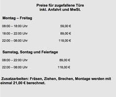 Schlüsseldienst Frankfurt Preise