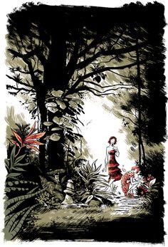 concept art - fabio moon Gabriel, Fabio Moon, Forest Girl, Comic Styles, Pulp Art, Illustration Art, Illustrations, Art Boards, Home Art
