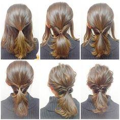 1:くるりんぱ「サイドの髪だけ」アレンジ - 一つ結びアレンジで大人可愛く 簡単にできるママのおしゃれヘアアレンジ集 (3ページ目) cuta [キュータ]