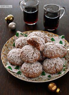 Galletas amareti y chocolate Pan Cookies, Brownie Cookies, Yummy Cookies, Cupcake Cookies, Cupcakes, Galletas Amaretti, Bon Appetit Bien Sur, German Cookies, Café Chocolate