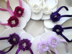 Bridal Flip Flops  Shabby Chic Roses  White by PetalnPearlBoutique, $28.95