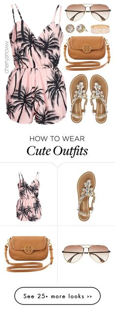 """Cute casual romper summer outfit"" by cherrysnoww on Polyvore"