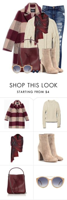 """""""Check Coat & Distressed Denim"""" by brendariley-1 ❤ liked on Polyvore featuring Max&Co., Current/Elliott, L.L.Bean, Gianvito Rossi, 3.1 Phillip Lim and Tom Ford"""