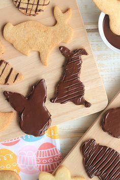 receita de biscoito decorado de pascoa com chocolate