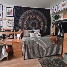 Boho college nook - uni room, college room, college apartments, college b. Man Room, Room Inspiration, Room Design, Dream Rooms, Room Inspo, Dorm Room Inspiration, Mens Bedroom, Dorm Room Decor, Room
