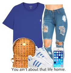 """"""""""" by clinne345 ❤ liked on Polyvore featuring Polo Ralph Lauren, adidas and MCM"""