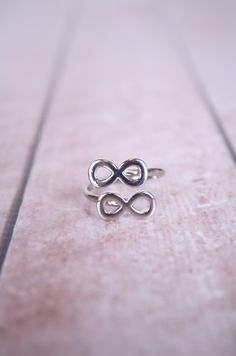 Double Infinity Ring Silver Infinity Ring, Infinity Rings, Double Infinity, Wicked, Jewelery, Jewelry Accessories, Silver Rings, Honey, Bling