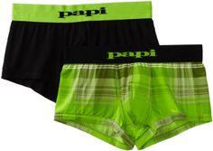 Papi Men's Ibiza Cool Two Pack Brazilian Trunk