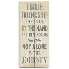 True Friendship by Artist Flavia Weedn Wood Sign