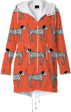 Dalmatians Raincoat from Print All Over Me