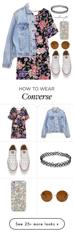 """""""Vintage"""" by avonsblessing94 on Polyvore featuring Converse, Levi's, Forever 21, vintage, women's clothing, women, female, woman, misses and juniors"""
