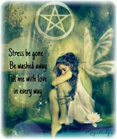 Stress Be Gone wiccan pagan Wiccan Witch, Wicca Witchcraft, Magick Spells, Healing Spells, Wiccan Books, Witch Rituals, Luck Spells, Money Spells, Meditation Musik