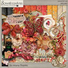 Digital Scrapbook Kit, So Many Thanks Kit by Silvia Romeo : SCRAPBOOK-BYTES
