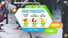 横版卷轴《保罗滑雪队》UI游戏界面