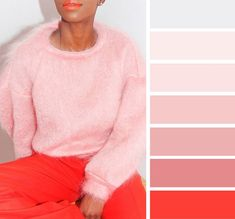 Pink rose quartz and orange color palette,pink color inspiration, rose quartz and coral color ideas #colorpalette #rosequartz