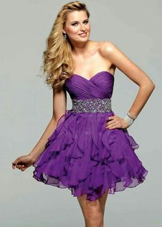Cute short purple dress