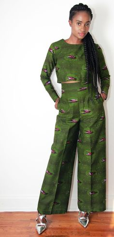 Go Wide or Go Home Wide-Leg Pants ~African fashion, Ankara, kitenge, African women dresses, African prints, African men's fashion, Nigerian style, Ghanaian fashion ~DKK