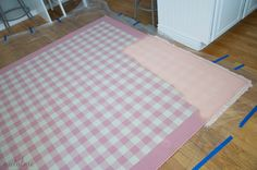 How to paint a rug-the right way and the wrong way.