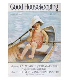 Good Housekeeping magazine cover, August 1927 Buy Good Housekeeping covers