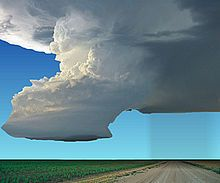 A supercell is a thunderstorm that is characterized by the presence of a mesocyclone: a deep, persistently rotating updraft. For this reason, these storms are sometimes referred to as rotating thunderstorms. Of the four classifications of thunderstorms (supercell, squall line, multi-cell, & single-cell), supercells are the overall least common and have the potential to be the most severe. Supercells are often isolated from other thunderstorms, and can dominate the local climate up to 20 mi…