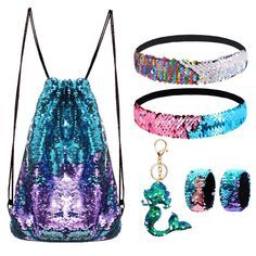 Mermaid Reversible Sequin Drawstring Backpack/Bag Blue/Gold for Kids Girls Duffle Bag Travel, Backpack Bags, Drawstring Backpack, Duffle Bags, Laptop Backpack, Unique Gifts For Boys, Gifts For Girls, Trending Christmas Gifts, Christmas Gifts For Her
