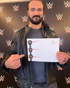 """Instagram 上的 What Lies Within:「 .. Drew McIntyre writes his name in Arabic """"درو"""" . #WWE #NXT #wrestling #prowrestling #WrestleMania #wweraw #RAW #DrewMcIntyre… 」 Wrestling Superstars, Wrestling Wwe, Wwe Quotes, Best Instagram Photos, Dolph Ziggler, Drew Mcintyre, Wwe Wallpapers, Wwe Champions, Aj Styles"""