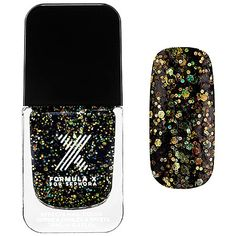 Superwatts Nail Polish Formula X for Sephora Oz Explosive - Black Rainbow Mega-glitter * To view further for this item, visit the image link. (This is an affiliate link) Pretty Nails, Fun Nails, Nail Station, Formula X, Nail Effects, Black Nail Polish, Love Sparkle, Nail Polish Designs, Nail Tools