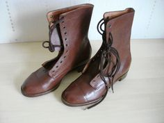 ORIGINAL RARE WW2 BRITISH ARMY AUXILIARY TERRITORIAL SERVICE ATS OFFICERS BOOTS