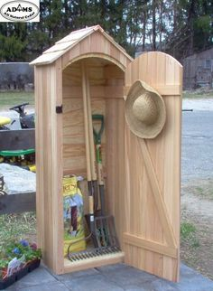 Small Garden Sheds   small cedar garden shed much better for tools just to have a cupboard