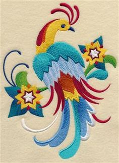 Machine Embroidery Designs at Embroidery Library! - Majolica Birds and Butterflies