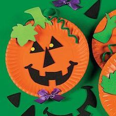 Pumpkin Paper Plate Crafts For Kids