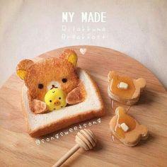 Rilakkuma sandwich ♡キナリノ - 暮らしを素敵に丁寧に。 タイ発!songsweetsongさんのキャラスイーツが可愛い♥