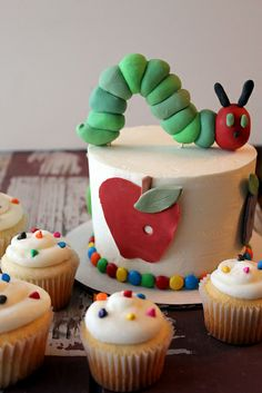 Very Hungry Caterpillar Smash Cake