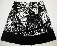 Talbots Collection Black/White Skirt-Womens-Sz 14       EXCELLENT! #Talbots #ALine