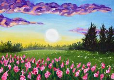 Spring Landscape Original Acrylic Painting 10