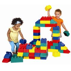 Giant Edublocks - Giant soft interlocking bricks make building a breeze. Flexible and easy to stack, children will love building walls, towers and more.